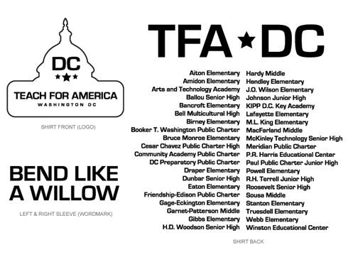 Print Design - Teach For America T-shirt